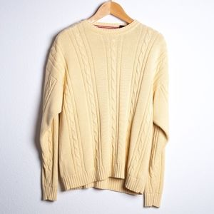 Bugle Boy Classics Cable Knit Sweater Men's Large